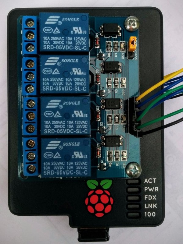 Circuit Simple Home Automation. RaspberryPi + Android