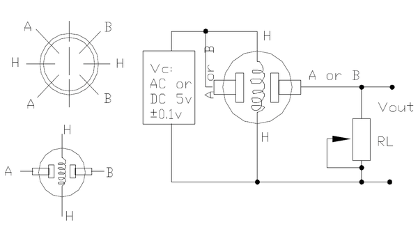 Basic schematics for the connection and pins of the smoke detector