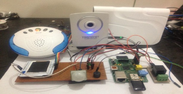 Access Control of Door and Home Security by  Raspberry Pi Through Internet