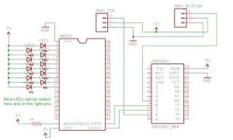 LED stairs schematic 1