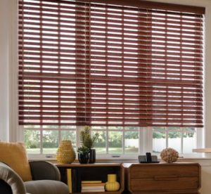 Motorized wood venetian blinds By Brite