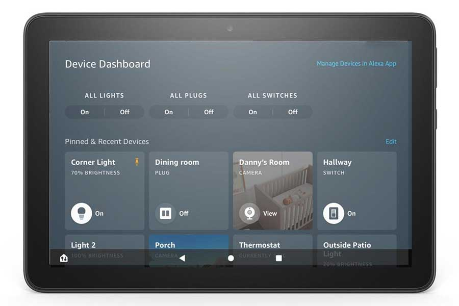 Amazon Fire Tablets Get Smart Home System Dashboard